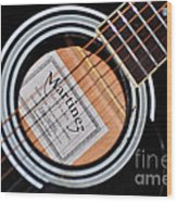Guitar Abstract 1 Wood Print