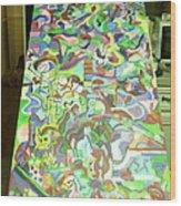 Guitar And The Dragon  Wood Print