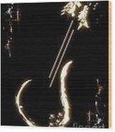 Guitar Music Poster Wood Print