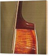 Guitar Wood Grain Exposed Wood Print