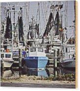 Gulf Boats Wood Print
