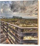 Gulf State Park Boardwalk Corner Wood Print