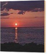Gulfview Sunset Wood Print