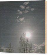 Gunnison Full Moon Wood Print