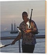 Guy Collins At Key West Wood Print