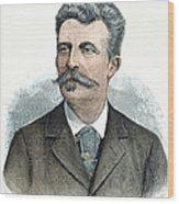 Guy De Maupassant Wood Print