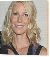 Gwyneth Paltrow In Attendance Wood Print by Everett