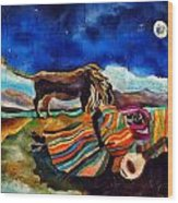 Gypsy Tribute To Henri Rousseau Wood Print by Sandra Kern