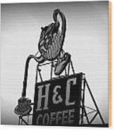 H And C Coffee Wood Print