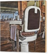 H J Barber Shop Wood Print