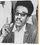 H. Rap Brown, Chairman Of The Student Wood Print