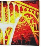 Haceta Head Bridge In Abstract Wood Print
