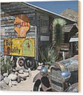 Hackberry Signs   Arizona Route 66 Wood Print