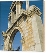 Hadrians Arch In Athens, Greece Wood Print by Richard Nowitz