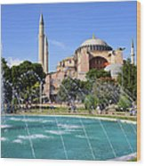 Hagia Sofia In Istanbul Wood Print by Artur Bogacki