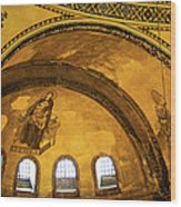 Hagia Sophia Architectural Details Wood Print