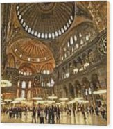 Hagia Sophia In Istanbul Wood Print