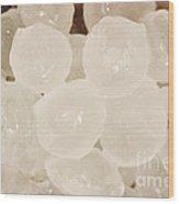 Hail Stones Wood Print
