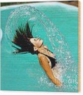Hair Fling Wood Print