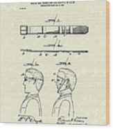 Hair Growth System 1903 Patent Art Wood Print