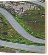 Hairpin Bends In The, Healy Pass, Beara Wood Print