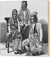 Hairy Faced Burmese Family Wood Print