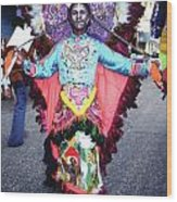 Haiti - Carnaval Indian Outfit Wood Print