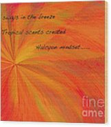 Halcyon Haiku Wood Print