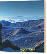 Haleakala Crater 1 Wood Print by Ken Smith