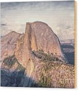 Half Dome Portrait Wood Print