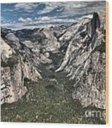 Half Dome Valley Wood Print