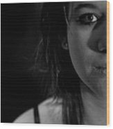 Half Portrait Wood Print
