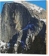 Half Way Half Dome Wood Print