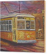 Halifax Trolley Wood Print