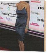 Halle Berry Wearing A Rachel Roy Dress Wood Print by Everett