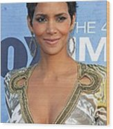 Halle Berry Wearing An Emilio Pucci Wood Print