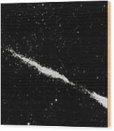 Halley's Comet As Seen By The Soviet Vega Mission Wood Print