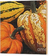 Halloween Colors Wood Print
