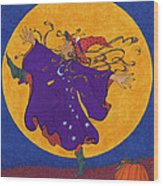 Halloween Dance Wood Print
