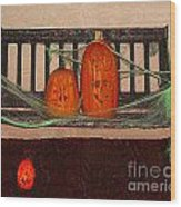 Halloween Decoration Wood Print