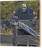 Halloween Goblin Wood Print