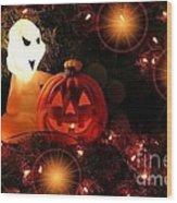 Halloween Magic Wood Print
