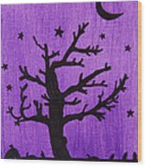 Halloween Night Wood Print