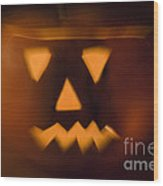 Halloween Pumpkin Wood Print