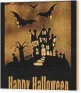 Halloween Quilt Top Wood Print by Nancy Greenland
