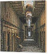 Hallway Eastern State Penitentiary  Wood Print