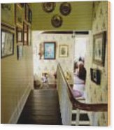 Hallway In Home Of Anna Jarvis Wood Print