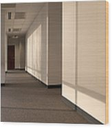 Hallway Of An Office Building Wood Print by Will & Deni McIntyre