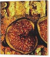 Halved Fig Wood Print