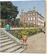 Ham House - Gardens Wood Print by Donald Davis